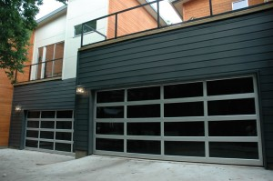 contemporary style glass garage door seattle wa